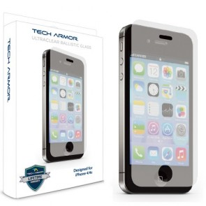 Tech Armor Apple iPhone 4/4S Premium Ballistic Glass Screen Protector - Protect Your Screen from Scratches and Drops - Maximize Your Resale Value - 99.99% Clarity and Touchscreen Accuracy