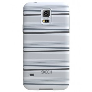 Skech Groove Flexible Case for Samsung Galaxy S5 - Retail Packaging - Gray