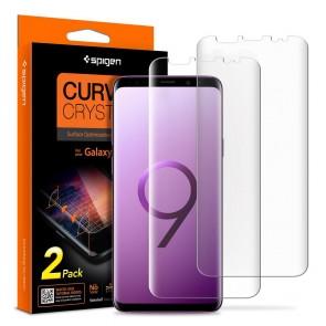 Spigen Samsung Galaxy S9+ Curved Crystal HD Screen Protector Crystal Clear