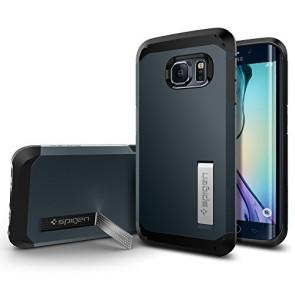 Galaxy S6 Edge Case, Spigen [HEAVY DUTY] Tough Armor Case for Samsung Galaxy S6 Edge [EXTREME PROTECTION] - Metal Slate (SGP11429)