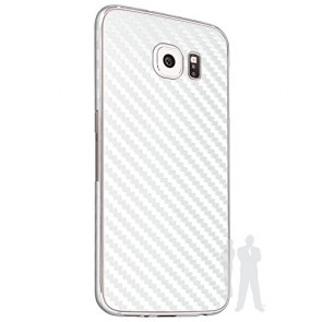 Bodyguardz Carbon Fiber armor Back Skin (White) for Samsung Galaxy S6 Edge