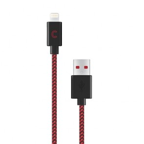 CandyWirez 3 Ft Nylon Braided Lightning Cables - Black/Red