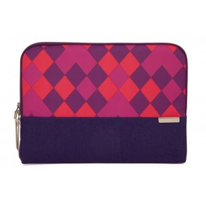 STM grace 11-in. laptop sleeve  purple diamonds