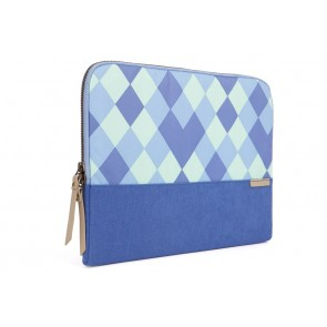 STM grace 11-in. laptop sleeve  blue diamonds