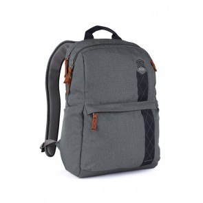 STM banks backpack - fits up to 15 laptop tornado grey