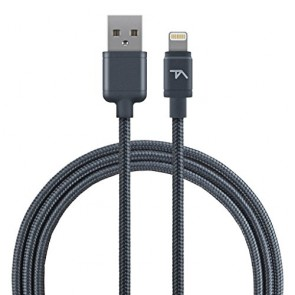 Tech Armor 8 pin Lightning USB cable, 6 ft, braided, space grey