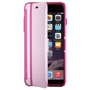 Speck Products CandyShell Wrap Case for iPhone 6 Plus/6S Plus, Pale Rose Pink/Cabernet Red