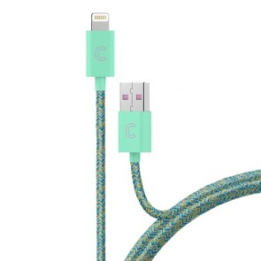 CandyWirez 3 Ft Marbled Woven Braided Lighting Cables - Turquoise