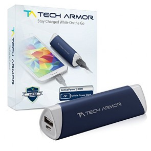 "Tech Armor Tech Armor 3,000 mAh ""Active Power"" Powerbank - 2 Year Warranty"
