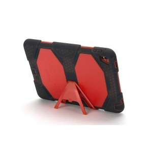 Griffin Survivor All Terrain Tablet for iPad Air 2, iPad Pro 9.7 in Smoke/Tomato/Tomato
