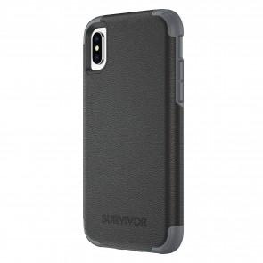 Griffin Survivor Prime - Black Leather - iPhone X