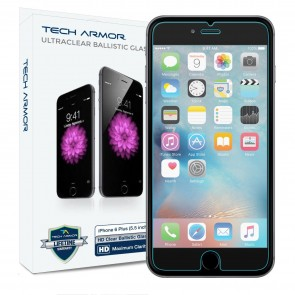 Tech Armor ELITE HD Clear screen protector 2 pk for iPhone 6/6s