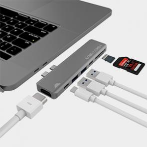 intelliARMOR LynkHUB HD+ 7-in-1 USB C Hub - Space Gray