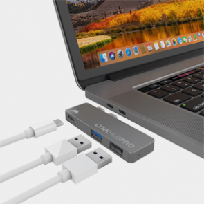 intelliARMOR LYnkHUB PRO 3-in-1 USB C Hub - Space Gray