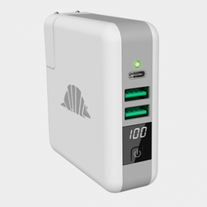intelliARMOR SCOUT Travel A/C Charger, USB C, QI, PowerBank