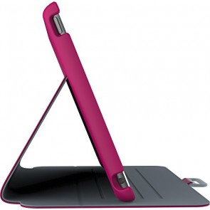 Speck Products StyleFolio Case and Stand for iPad mini 4, Fuchsia/Nickel Grey (71805-B920)