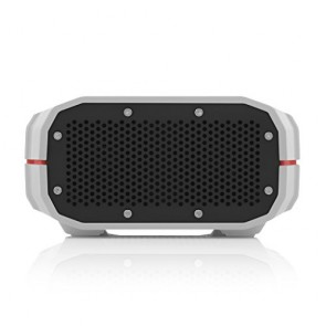 Braven BRV-1 Portable Wireless Speaker. Gray with Red Relief and Black Grill