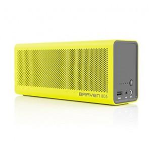 Braven 805 Wireless HD Bluetooth Speaker - Retail Packaging - Yellow/Gray