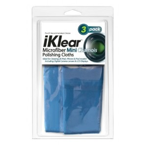 3 iKlear Travel Size Microfiber Chamois Style Cloths