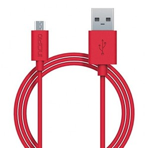Incipio CHARGE/SYNC Micro USB Cable - Red