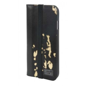 HEX ICON WALLET FOR IPHONE 7 BLACK GOLD LEATHER