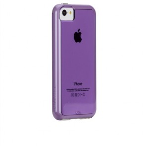 Case Mate Case-Mate iPhone 5C Tough Naked - Purple w/White Bumper - Carrying Case - Retail Packaging - Black