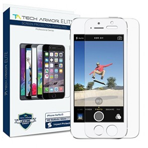 Apple iPhone 5/5c/5s ELITE SERIES Ballistic Glass Screen Protector, COMMERCIAL GRADE, Ultimate Drop/Scratch Protection