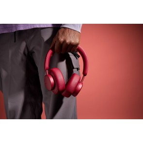 Urbanista Miami Active Noise Cancelling True Wireless Over-Ear Headphones Ruby Red - Red