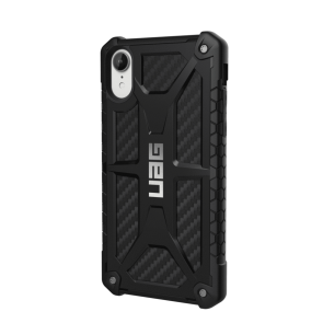 Urban Armor Gear - Monarch Case For Apple iPhone XR - Carbon Fiber