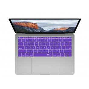 "KB Covers Purple Keyboard Cover for MacBook 12"" Retina & MacBook Pro 13"" (Late 2016+) No Touch Bar"