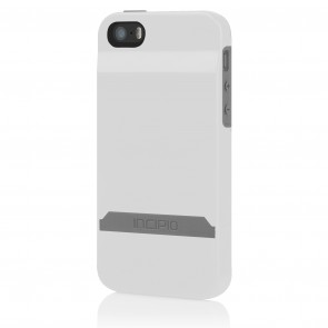 Incipio Stashback for iPhone 5/5S - White/Gray