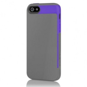 Incipio Faxion for iPhone 5/5S - Charcoal Gray / Royal Purple