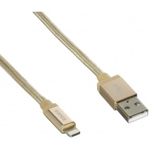 Kanex USB Charge & Sync Premium Cable w/Lightning Connector - 9.9ft/3m Gold