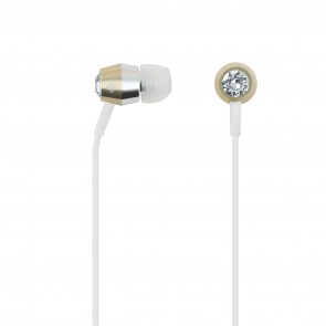 kate spade new york Earbuds - Crystal/Gold/Silver/White