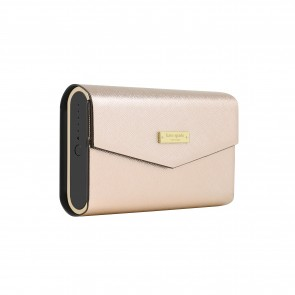 kate spade new york Portable Wireless Speaker with Cover - Black/Rose Gold Trim/Rose Gold Saffiano Cover