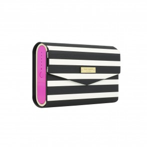 kate spade new york Portable Wireless Speaker with Cover - Rhod Red C (Pink)/Gold Trim/Fairmont Square Cover (Black/White)