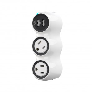 360 Electrical PowerCurve mini 3.4 2-Rotating Outlets Dual port USB