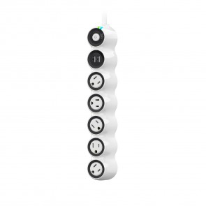 360 Electrical PowerCurve 2.4 5-Rotating Outlet Surge Strip Dual port USB