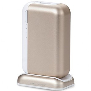 Just Mobile TopGum 6000 mAh Backup Battery with Dock (Gold)