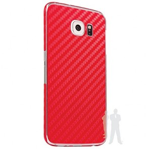 Bodyguardz Carbon Fiber armor Back Skin (Red) for Samsung Galaxy S6 Edge