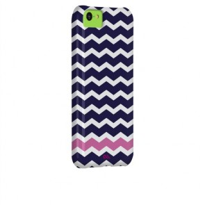 Case-Mate Barely There Print Case for iPhone 5C - Retail Packaging - Ziggy Zag