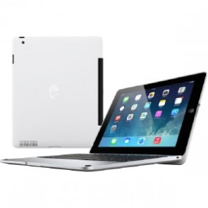 Incipio ClamCase Pro for iPad 2, 3, 4 - White Cover/Silver Aluminum