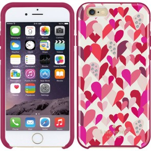kate spade new york Hybrid Hardshell Case for iPhone 6/6s - Confetti Hearts Multi/Crystal Stones