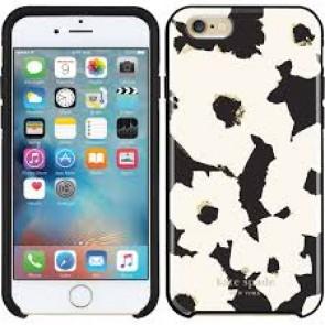 kate spade new york Hybrid Hardshell Case for iPhone 6 Plus / 6s Plus - Floating Floral Black/Cream/Gold Foil