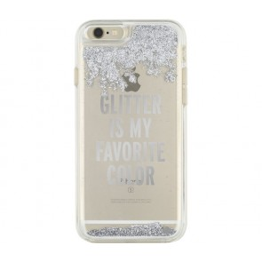 kate spade new york Clear Liquid Glitter Case for iPhone 6/6s - Glitter is My Favorite Color  (Silver)