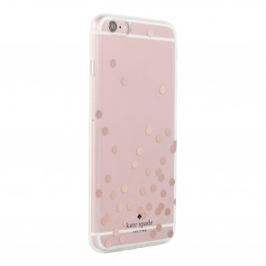 kate spade new york Hardshell Clear Case for iPhone 5/5s/SE - Confetti Dot Rose Gold Foil/Clear