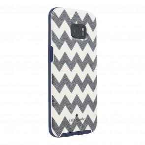 kate spade new york Hybrid Hardshell Case for Samsung Galaxy S7 edge -  Chevron Multi Glitter/Cream/Navy