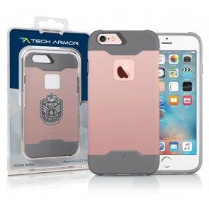 Active Sport Series ULTIMATE PROTECTION Hybrid Case, Co-Molded Polycarbonate/TPU RoseGold/Light Grey for the iPhone 6/6s