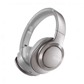 Cleer Audio FLOW II Wireless Hybrid Noise Cancelation Headphone with Google Assistant Light Metallic