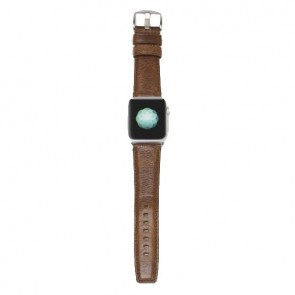 Sena Heritage Apple Watch 42mm Band Cognac